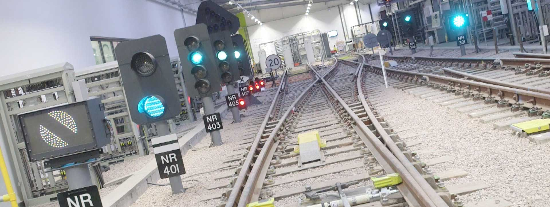 360 degree photograpphy of indoor rail track